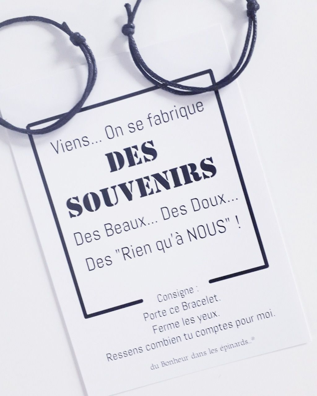 CARTE + 2 BRACELETS - VIENS ON SE FABRIQUE