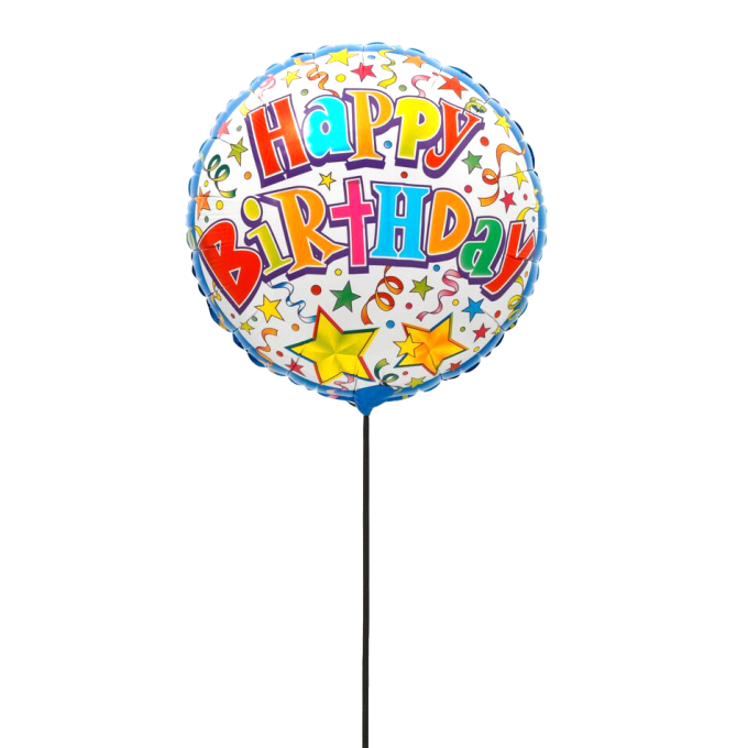 BALLON HAPPY BIRTHDAY FESTIF+ CARTE MESSAGE