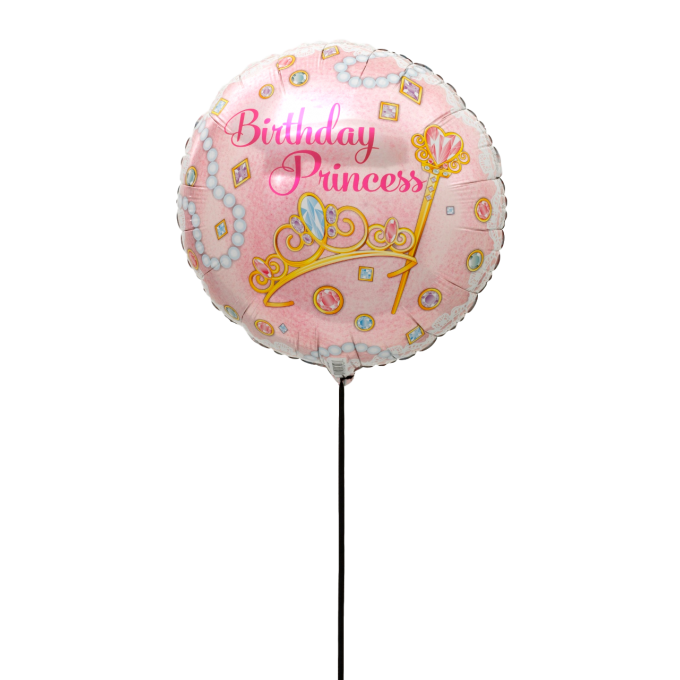 BALLON  HAPPY BIRTHDAY PRINCESSE+CARTE MESSAGE